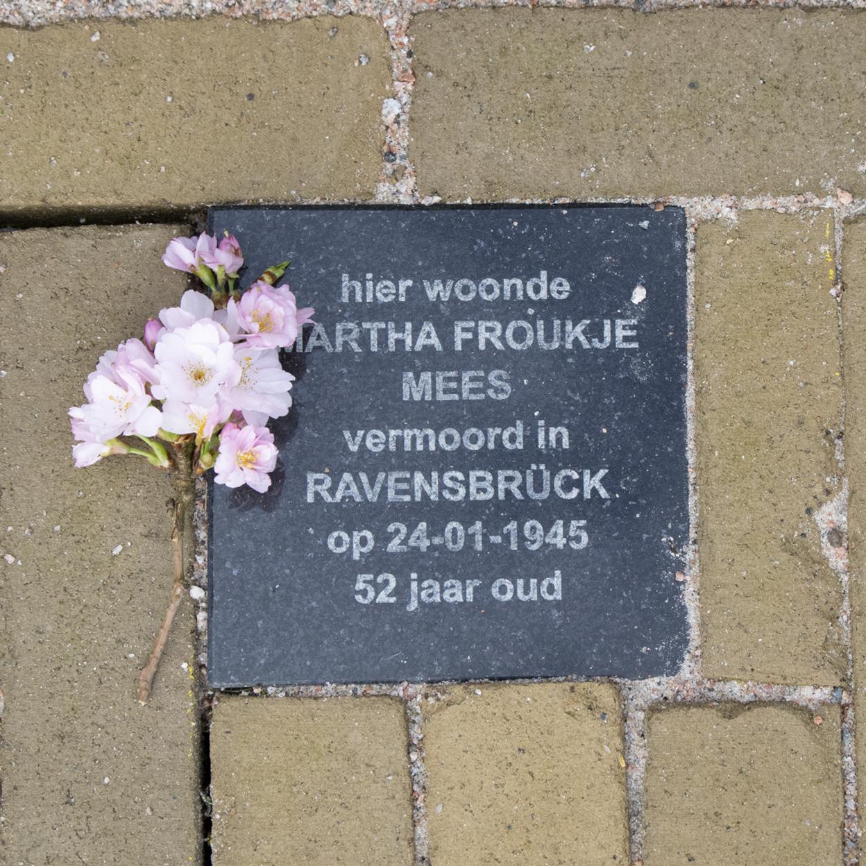 Herdenksteen Martha Froukje Mees - Foto: Julliët van Walbeek